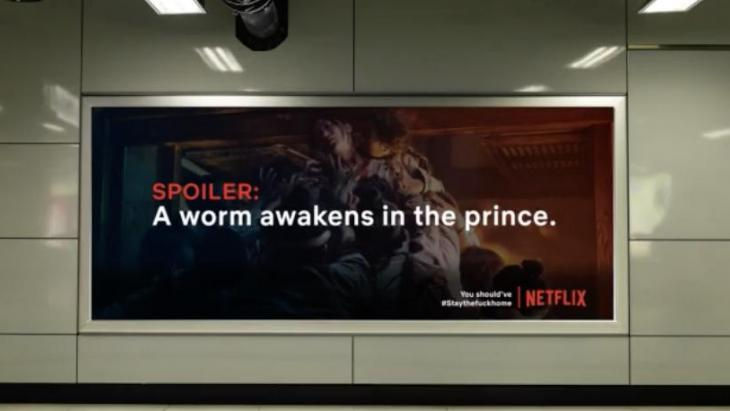 Netflix - The Spoiler billboard #staythefuckhome