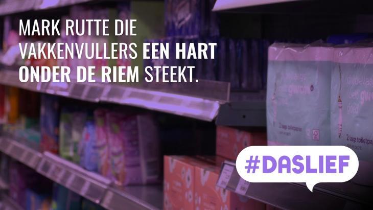 Rutte bedankt vakkenvullers - #DASLIEF