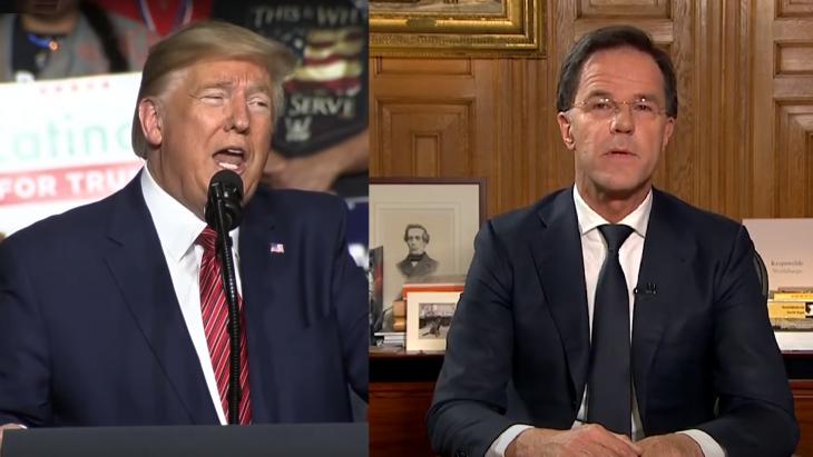 Trump en Rutte, hoax versus geen makkelijke boodschap
