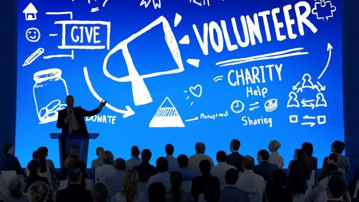 Bedrijfspresentatie over doneren