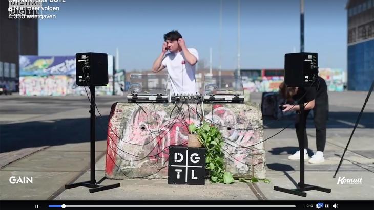 De digitale versie van het DGTL festival tijdens afgelopen Paasweekend.