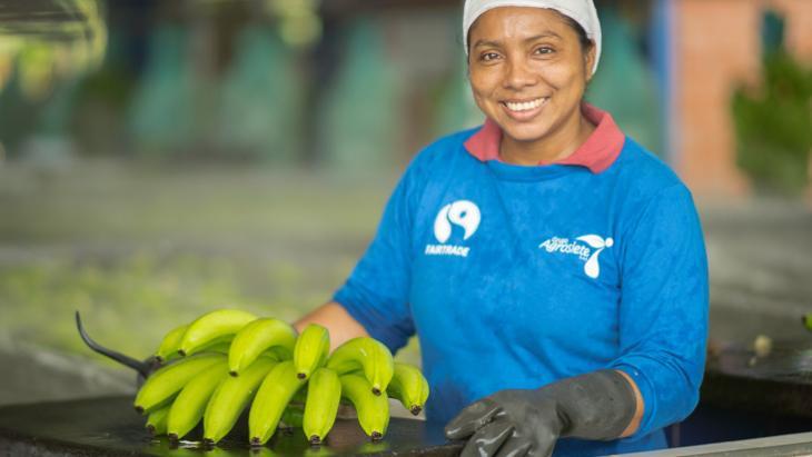 Fairtrade bananen van Plus