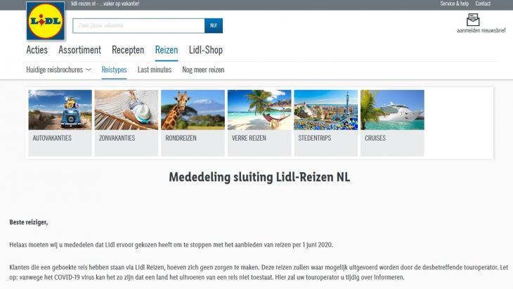 Sluiting Lidl-Reizen NL