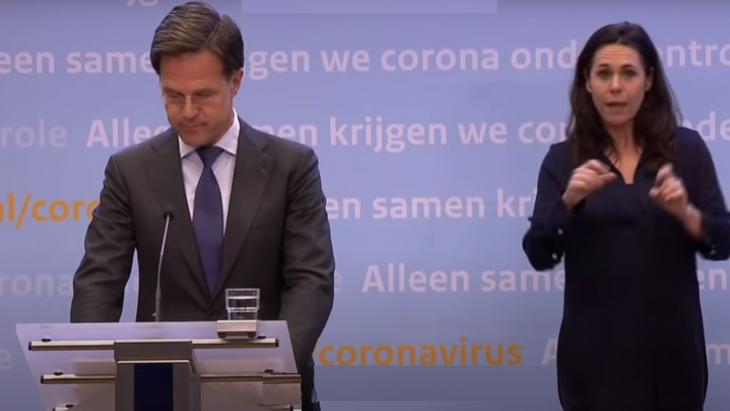 Premier Mark Rutte en zijn persconferentie
