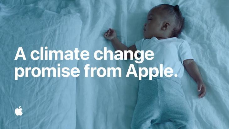 Apple belooft baby volledig klimaatneutraal te worden