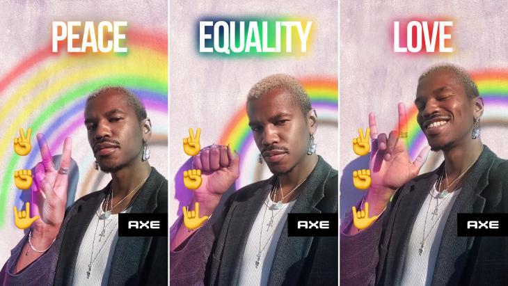 Axe viert Pride met de Snapchat-'Love is love rainbow Lens'