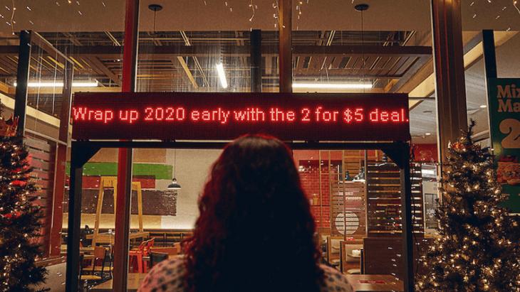 Burger King is klaar met 2020 en viert alvast Kerstmis