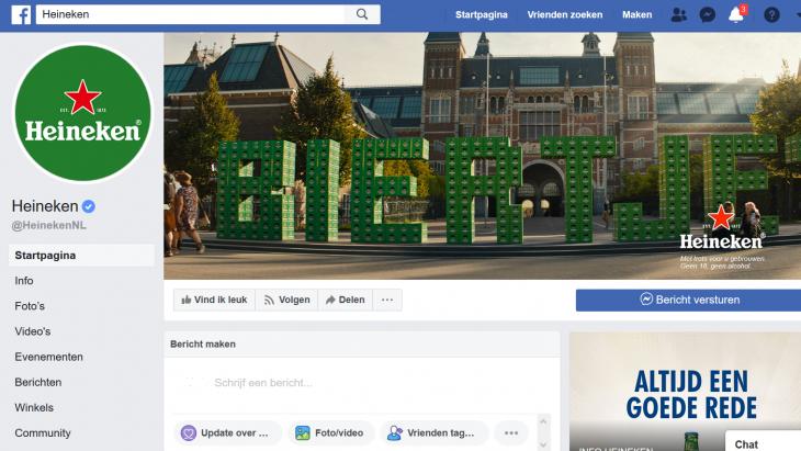 Facebookpagina Heineken