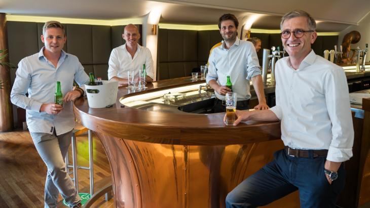 Jasper Kool (Happy Tosti), David Jansen (Mileuwerk), Marc Josephus Jitta en Gerrit Keen (HEINEKEN Nederland)