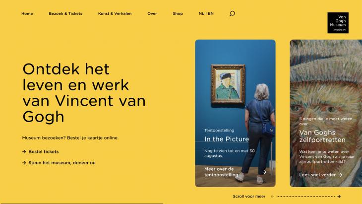 Website Van Gogh Museum vernieuwd