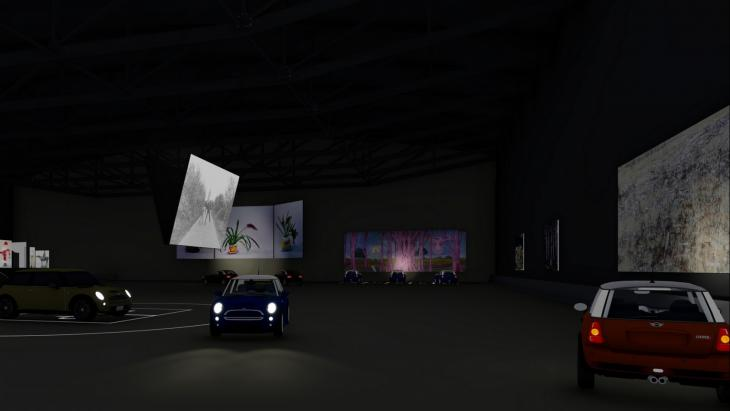 artist impression drive through museum