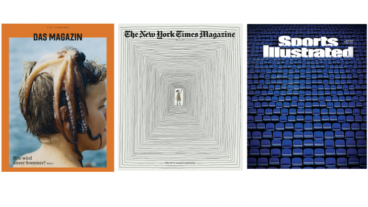 Omslagen Das Magazin, NYT Magazine en Sports Illustrated
