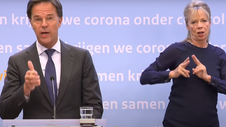 Mark Rutte en de gebarentolk