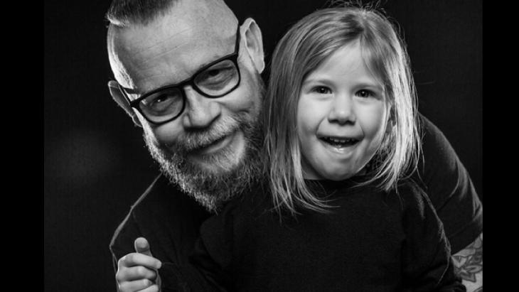 Rob Zuurbier met  dochtertje