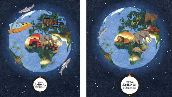 World Animal Protection-campagne kracht bijgezet met illustraties