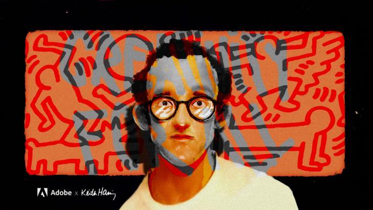 Adobe daagt nieuwe generatie creatieven uit met gedachtegoed Keith Haring