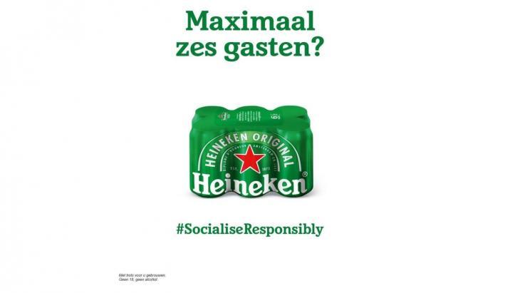 Een eerdere inhaker van Heineken op de maatregelen rond de pandemie