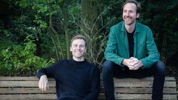 Team Holie: Merick Schoute (l) en Valentijn van Santvoort