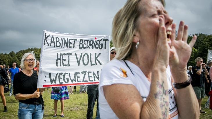 Protest tegen coronamaatregelen in Den Haag
