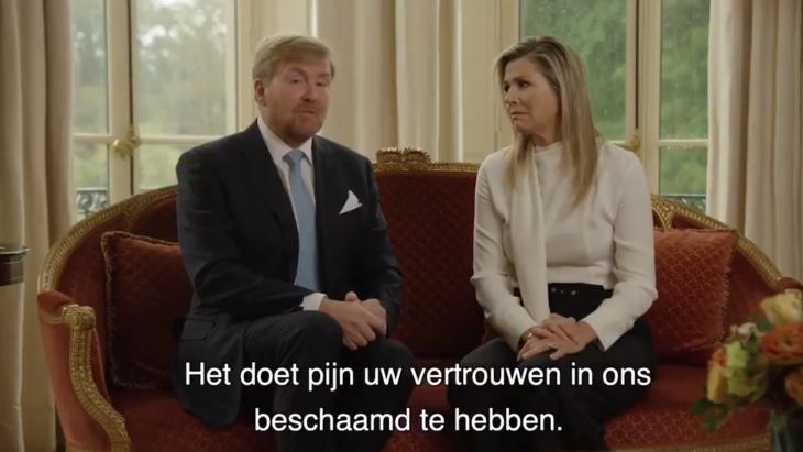 Willem Alexander biedt excuses aan