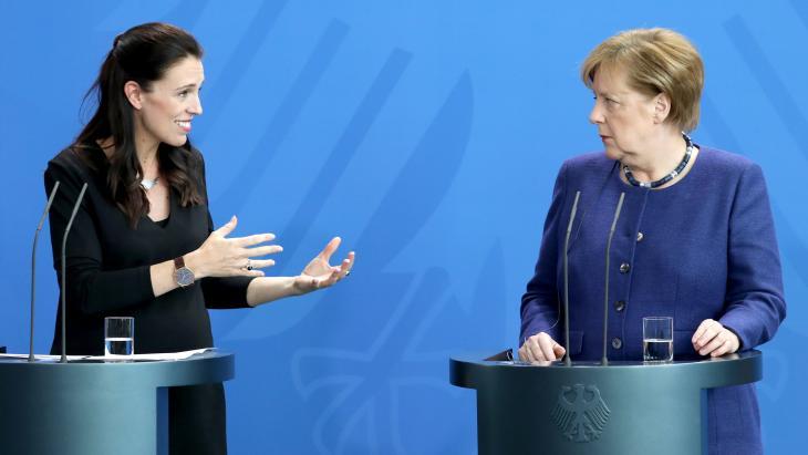 Ardern en Merkel