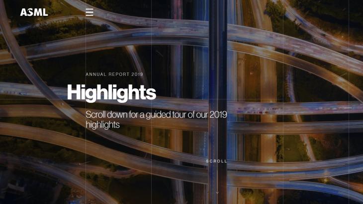 Beeld van jaarverslag ASML, als beste beoordeeld