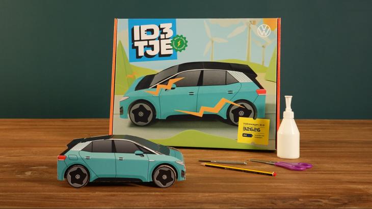 Speelgoedvariant van Volkswagen gepresenteerd om internationale way-to-zero-strategie kracht bijzetten