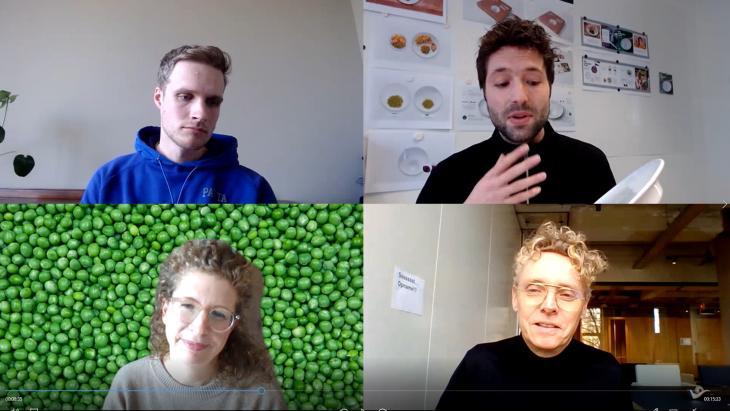 Linksonder met de klok mee: Nicole Freid (Hak), Leendert de Ronde (DDB Unlimited, Luuk Simonse (idem), Roderick Mirande (Adformatie)