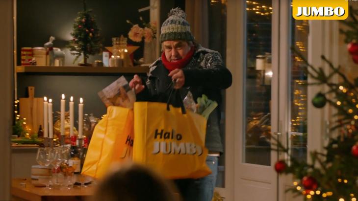 Beeld uit de kerstcommercial 2020 van Jumbo