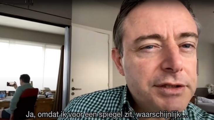 Bart de Wever tijdens zijn onderbroekinterview