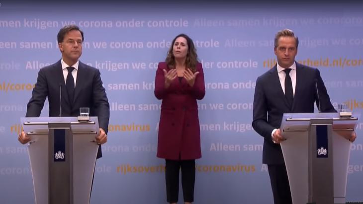 De twee hoofdrolspelers van het kabinet, Mark Rutte en Hugo de Jonge