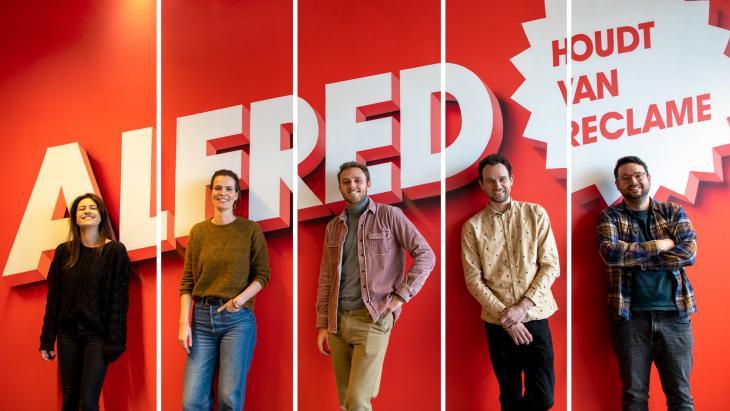 Alfred voegt 5 nieuwe creatieven toe aan team - Stella Geurtsen, Merel den Broeder, Mitchell, Mitchell Diercks, Stefan Apswoude en Joost van Nistelrooij