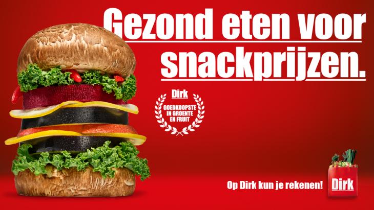 Supermarktketen Dirk biedt 'Gezond eten voor snackprijzen'