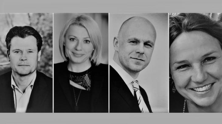 V.l.n.r. Robin Den Hoed, Tara Schuh, Thomas Cordes en Debra Al