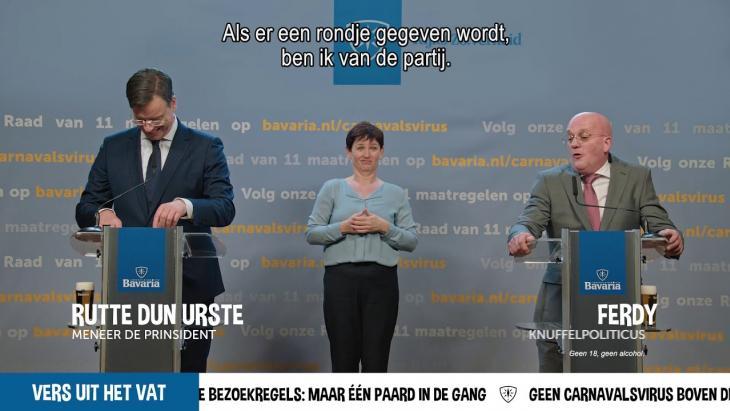 Bavaria's Rutte en Grapperhaus krijgen persvragen te verduren