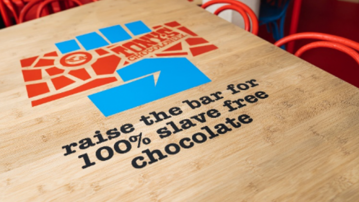 Tafel in Tony's chocoladebar