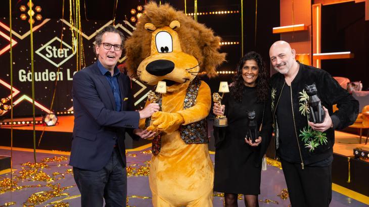 Gouden Loeki-winnaars: Arno de Jong, Patritia Pahladsingh, Darre van Dijk