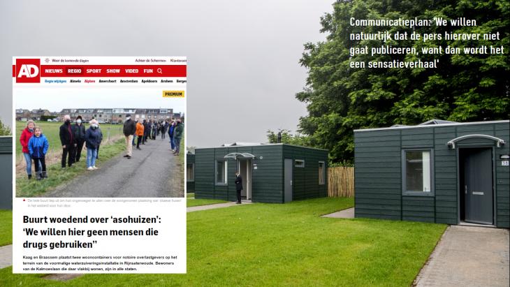 Het plaatsen van twee van dit soort containerwoningen zorgde voor veel onrust
