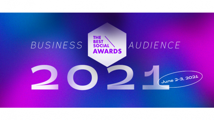 the best social awards 2021 - business audience