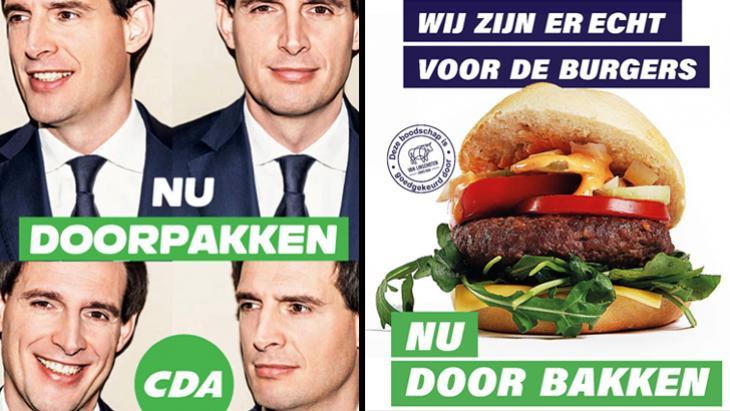 Keurslager komt op voor burger met geniale inhaker op campagneposters