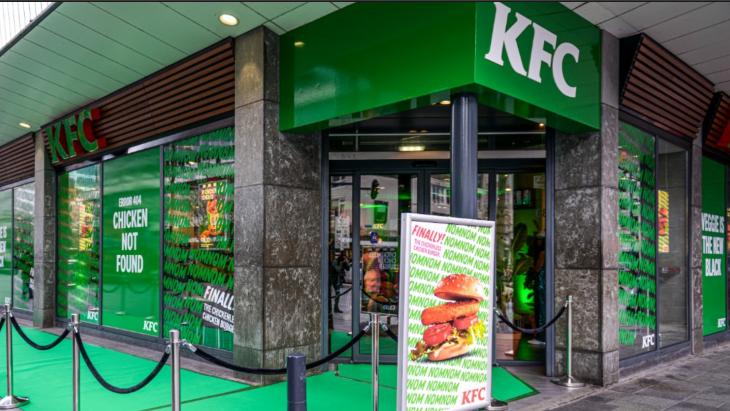 Beeld van vorig jaar toen KFC meedeed aan de week zonder vlees: 'Error 404, Chicken not found'