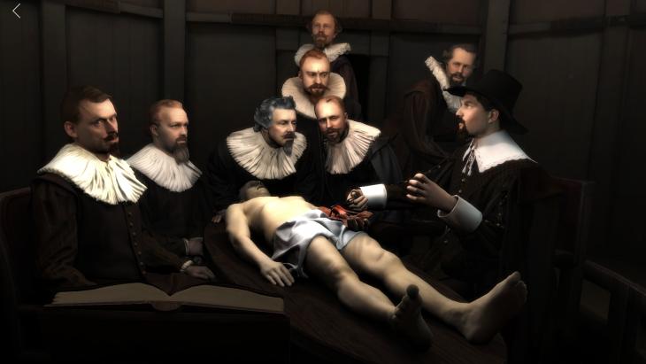 Beeld uit de Rembrandt Reality AR app van Capitola