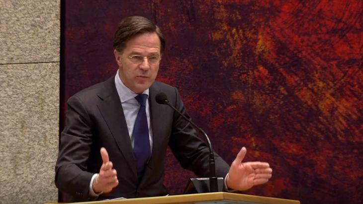 Mark Rutte tijdens het 'Omtzigt functie elders'-debat