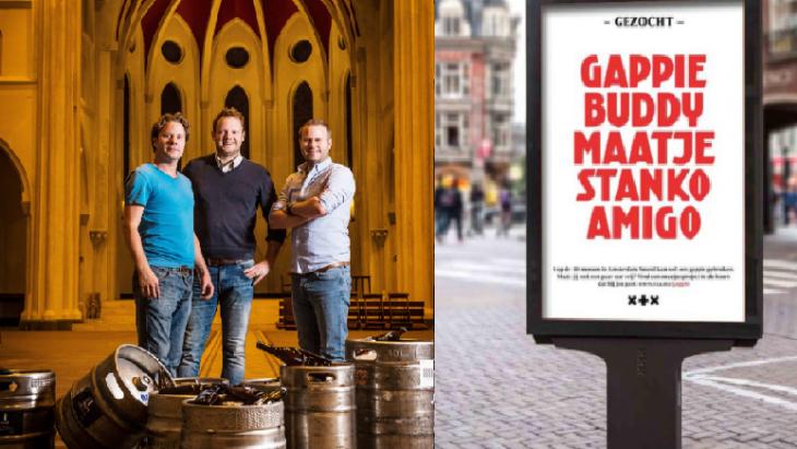 Impressie van de winnaars, links de gebroeders Vellenga van de Wispe Brouwerij, recht een abri voor Gappie gezocht