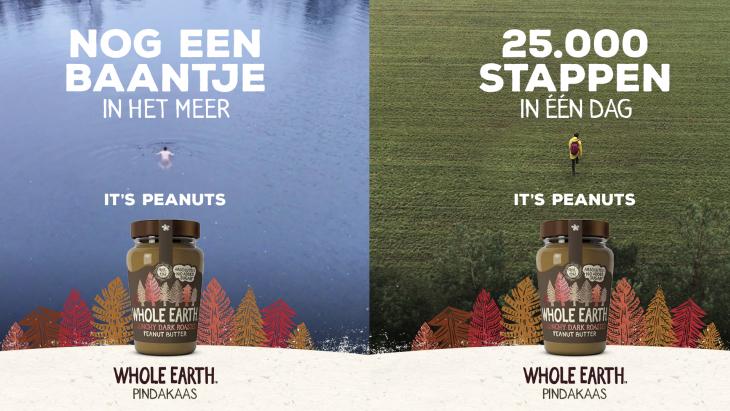 Whole Earth-pindakaas richt zich de 'active outdoor lifestyle'-doelgroep