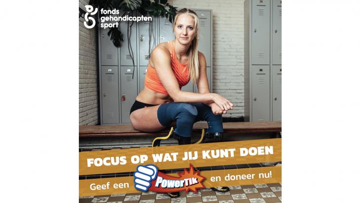 Fonds Gehandicaptensport start campagne 'Van PowerTalk to PowerTikkie'