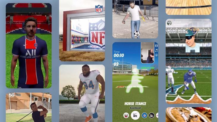 Augmented reality en sport fans