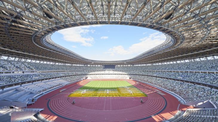 Leeg Olympisch stadion Tokio
