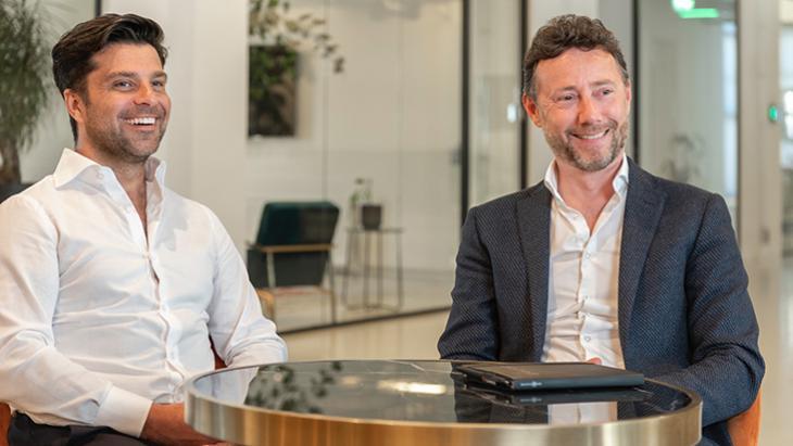 Gérard Ghazarian ( Founder Candid platform) en Ruud Wanck (CEO Candid platform)