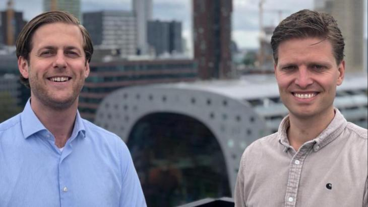 Oprichters Jaap van Strien (links) en Stijn Gimbrère